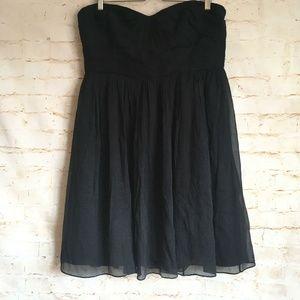J. Crew Silk Chiffon Strapless Bridesmaid Dress
